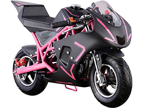 MotoTec Cali 40cc Gas Pocket Bike in Pink