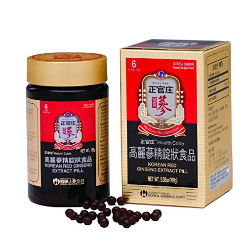 KGC Cheong Kwan Jang [Korean Panax Red Ginseng Extract 800 Pills] Extra Strength & Energy, Performance Mental Health Support, Immune System Support Booster, 100% Non GMO, Gluten-Free - 168 Grams