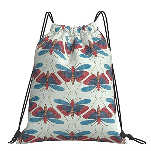 FJJLOVE Dragonfly Drawstring Backpack for Women Gifts Hiking Sackpack Drawstring Bags String Bag Strong Gym Bags