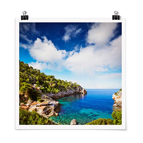 Bilderwelten Poster Cala de Deia in Mallorca Quadrat, Selbstklebend seidenmatt 70 x 70cm