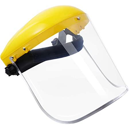 ZIRAN Visera de Casco de Seguridad con protecci/ón Facial Completa Transparente para construcci/ón automotriz Pantalla Resistente a Altas temperaturas Amarillo