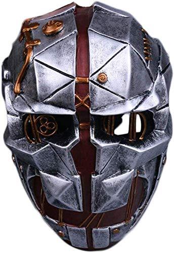 XDHN Dishonored Mask Game Cosplay Helm Halloween Weihnachtsthema Party Film Kostüm Prop Frp Masken,Silver-,Silver,
