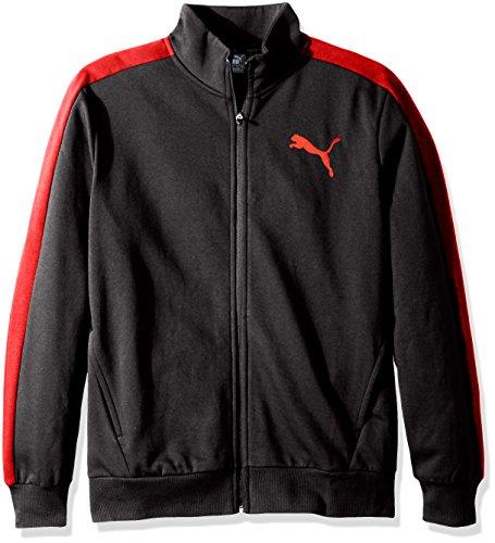 PUMA Men's P48 Core Track Jacket, Dark Gray Heather/red, M