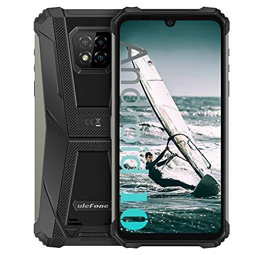 "Ulefone Armor 8 (2020) Unlocked Rugged Phones, Android 10 Helio P60 Octa-core 4GB + 64GB ROM, 16MP Triple Rear Camera + 8MP Front Camera, 6.1"" HD+ 5580mAh Battery Dual SIM 4G Unlocked Smartphones"