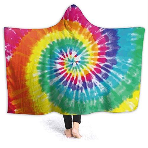 N \ B Tie Dye - Manta con capucha para sofá con capucha para bebé, niños, hombres, mujeres, 60 x 50 pulgadas