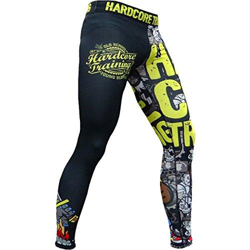 Pantalones de compresión Hardcore Training Doodles-s MMA BJJ Fitness Grappling Mallas compresivas