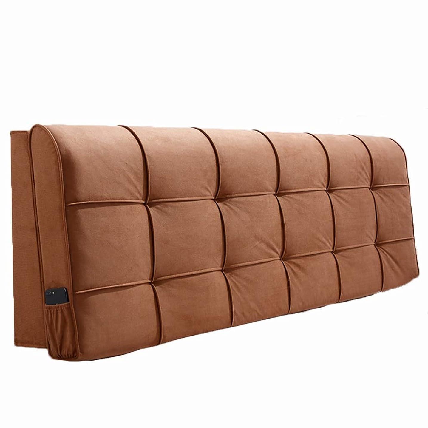 前書き減らすベッド枕 ベッドサイドクッションソフトバッグ大背もたれシンプルなダブルぬいぐるみ素材取り外し可能な洗える枕ベッドカバーセットベッドサイド使用スポンジフィラーサイズ90センチメートル - 200センチメートル 写真ベッド枕首まくら (色 : J j, サイズ さいず : 200cm)