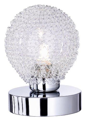 Reality Leuchten Reality R59321106 Wire Lampada Tavolo, 1xG9, 28 W Alogena, Cromo/Trasparente Chiaro, 13.5 cm G9, 10x10x14 Centimeters, metallo;metallo/vetro