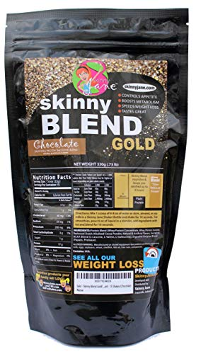Skinny Blend Gold! Best Tasting Protein Shake for Women, Delicious Smoothie- Weight Loss -Low Carb Diet Supplement - Weight Control - (15 Servings, Chocolate)