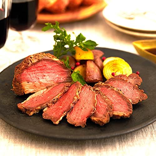 US産ローストビーフ 牛もも ブロック 125g ローストビーフ ソース付き US産 肉 お祝い ギフト ソース付き 母の日 父の日 牛肉 パーティ おつまみ 敬老の日 インスタ映え (2個セット)