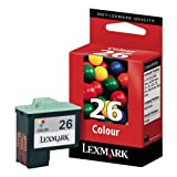 Lexmark 10N0026 - Cartucho Tinta Color, Capacidad 275 páginas