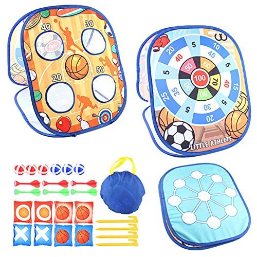 ampusanal Bean Bag Toss Game Kit para niños, Regalos para niños de 3 4 5 6 7 años de Edad, niñas, niños, niños pequeños, tableros de Doble Cara para Esquinas al Aire Libre, Juegos de Tiro al Big Sale