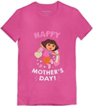 Dora The Explorer Happy Mother's Day Official Toddler/Kids Girls' Fitted T-Shirt