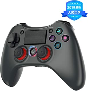 PS4 コントローラー tecboss ワイヤレス Bluetooth 接続 Blitzl PS4 fpsコントローラー PS4 Pro/Slim PC対応 無線 二重振動 6軸センサー搭載 ゲームコントローラー