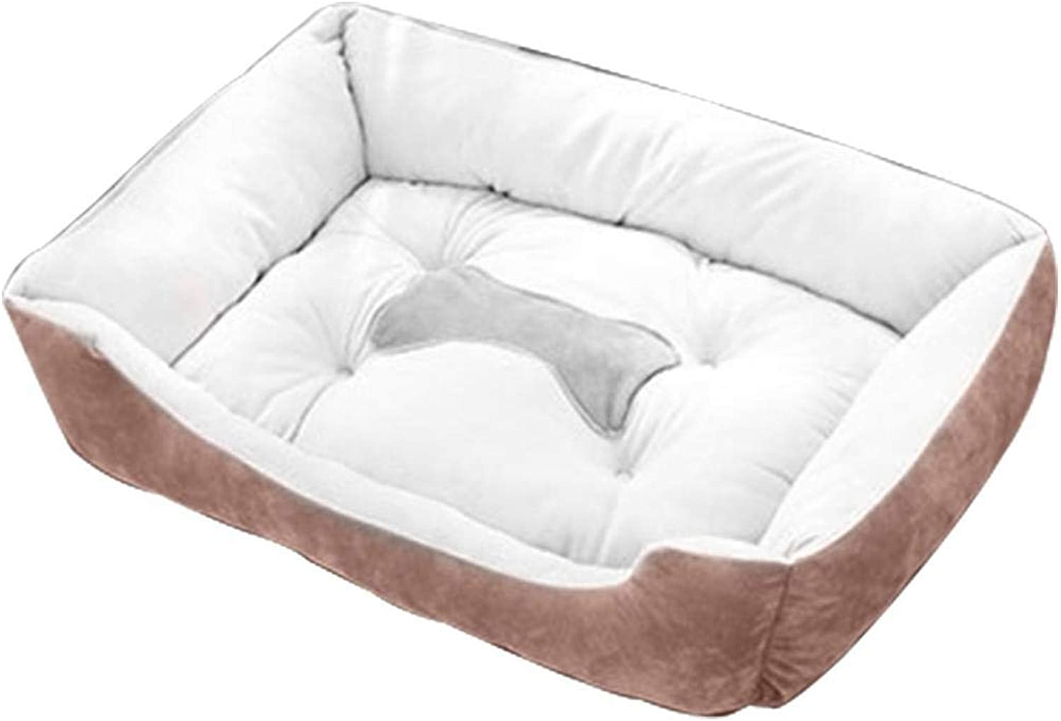 Oplon Fashion Solid Indoor Cat Pet Plush Cotton Dog Cushion Bed Beds