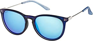 O'Neill Shell Women's Polarized Sunglasses - Frosted Blue/Blue Revo - Onshell-105P, Round Frame