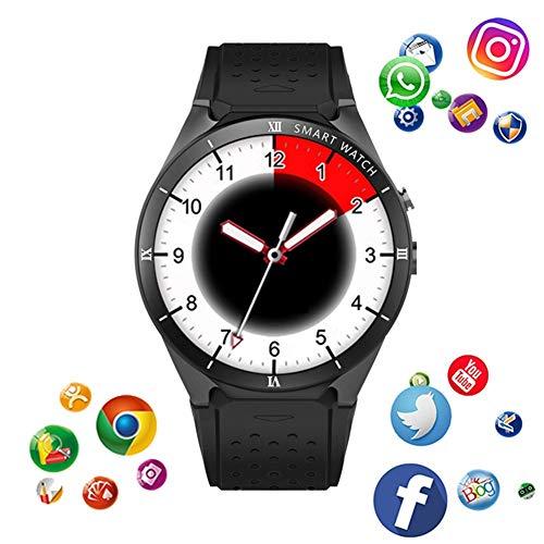 KDSFJIKUYB Smartwatch KW88 Pro Smart Watch 1 GB RAM 16 GB ROM MTK6580 3G GPS WiFi Android 7.0 Smartwatch Unterstützung Google Weather, weiß