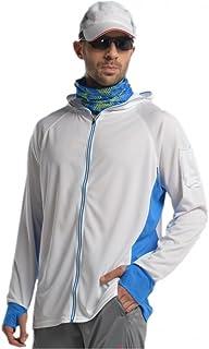 Venxic Men's Long Sleeve Performance Fishing Shirts, Quick Dry, UPF50+ UV Protection, Contrast White