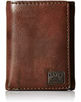 Levi's Men's RFID Trifold Wallet-Sleek and Slim Includes Id Window and Credit Card Holder, Brown Stitch, One Size