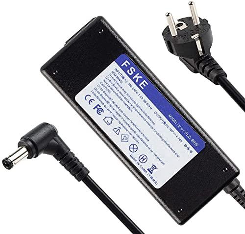 FSKE 90W 19V 4.74A Chargeur pour ASUS PA-1650-78 AD887020 ADP-90CD DB EXA1208EH ADP-65GD B X552C X550C K53S K53E N17908 V85 Ordinateur Portable AC Adaptateur, Notebook EUR Alimentation,5.5 * 2.5mm