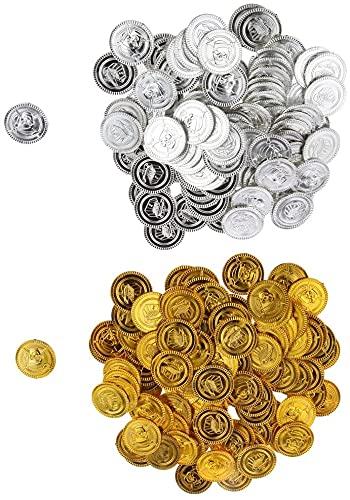 N-K Spielzeug Spiele Münzen Spiele Kinder Party Goldmünzen Piraten Spielzeug Werkzeuge Ungefähr 200 Stück Dauerhaft