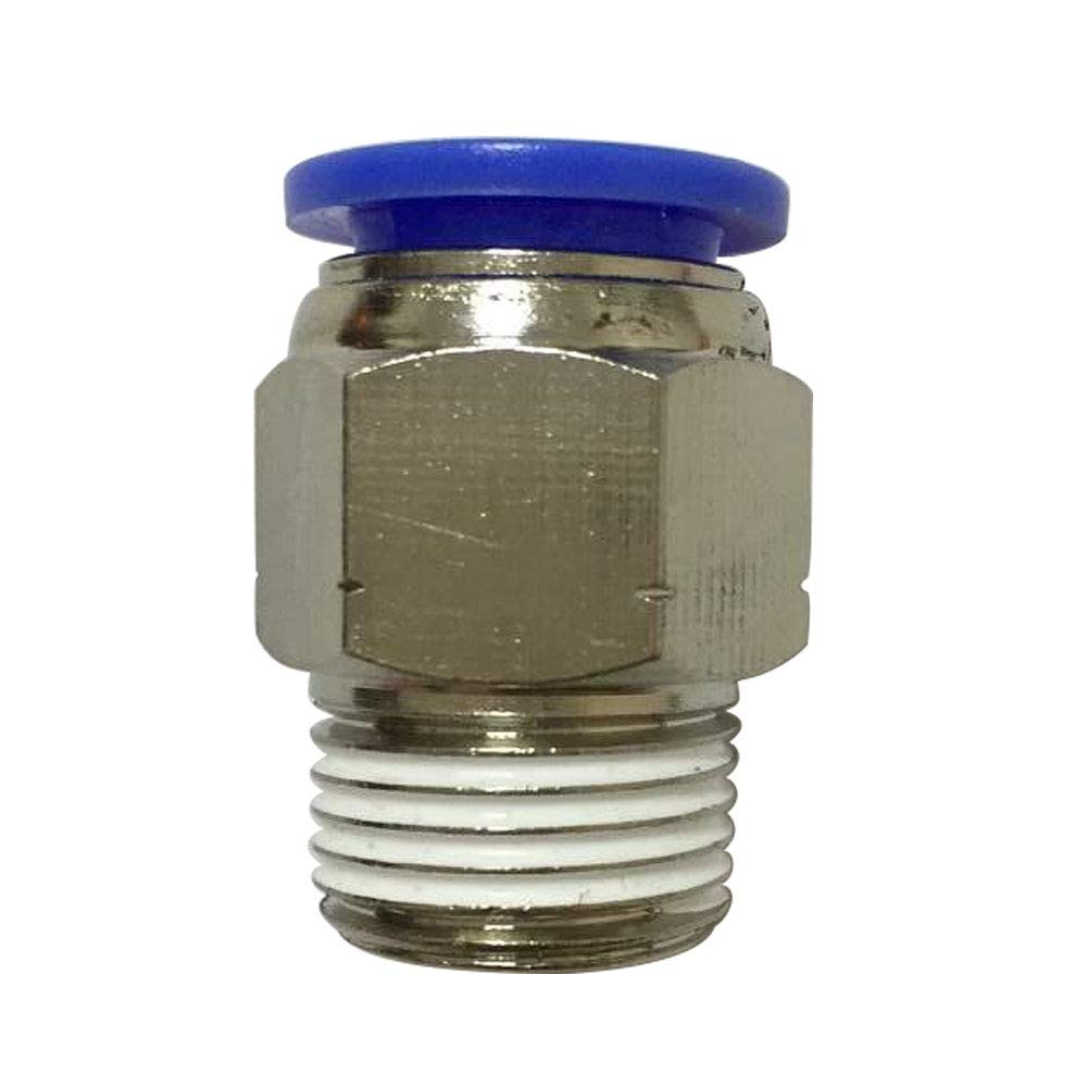 Pack of 10 PBT /& Nickel Plated Brass Avanty 12mm OD x 3//8 NPT Male Push to Connect Tube Fitting Male Straight Adapter with Sealant