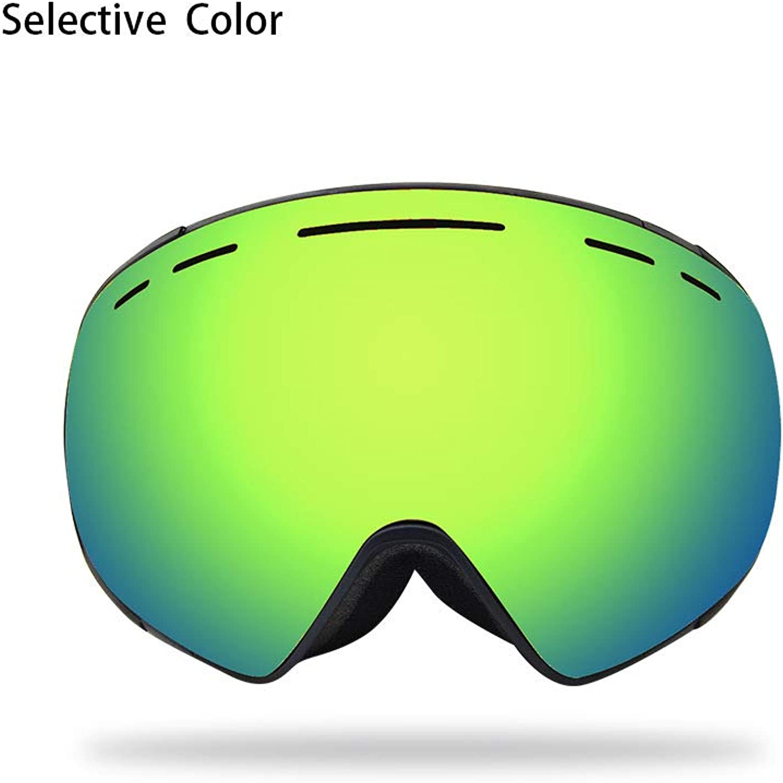 Ski Goggles, Highend DoubleLayer AntiFog ski Mirror Outdoor Sports Mountaineering Spherical ski Glasses