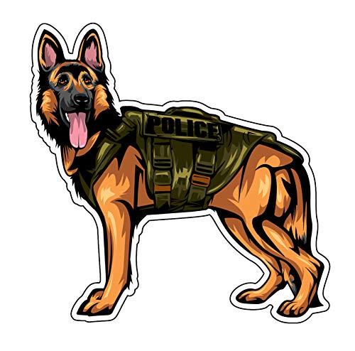 WickedGoodz German Shepherd K9 Decal - Police Dog Bumper Sticker - for Laptops Tumblers Windows Cars Trucks Walls