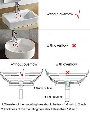 KUNGYO Fregadero para lavabo sin ranura Empujar para elevar Haga clic en Tapón para desecho Clack Tapón para desagüe sin…