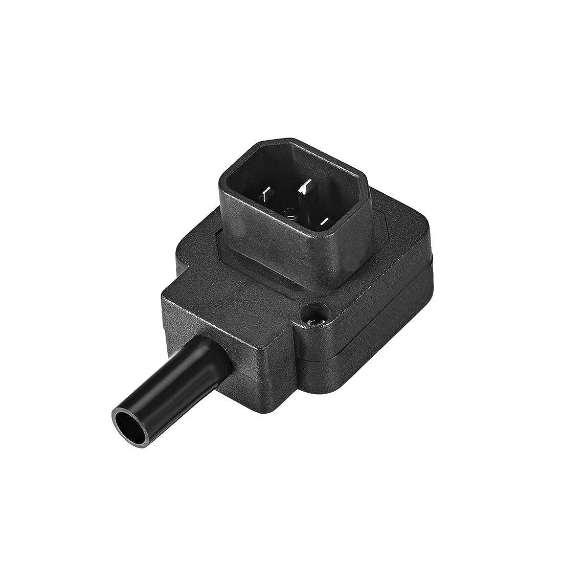 辛いスリットラックuxcell IEC C14アダプター 電力アダプター 電気部分製 ブラック AC 110-250V 10A 3ターミナル