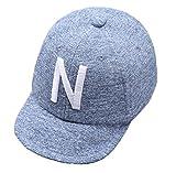 Baby Boy Baseball Cap Striped Sunhat Letter Sun Protection Hat (blue-1pcs)