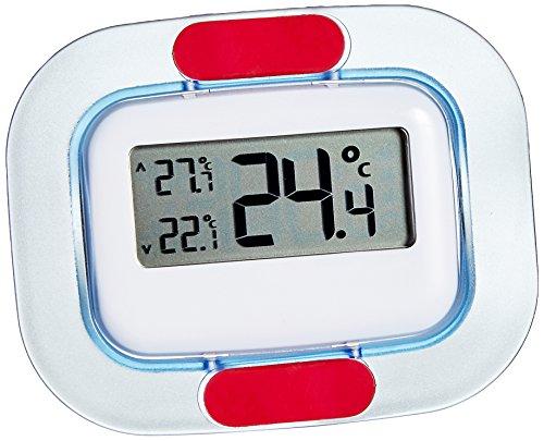 TFA Dostmann Digitales Kühl-Gefrierschrank-Thermometer, 30.1042, permanente Anzeige der Höchst-und Tiefstwerte