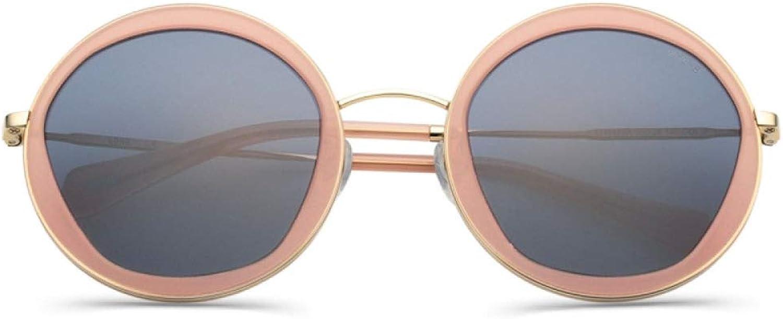Women'S Sunglasses Fashion Tortoiseshell Metal Round Frame Sunglasses,EL