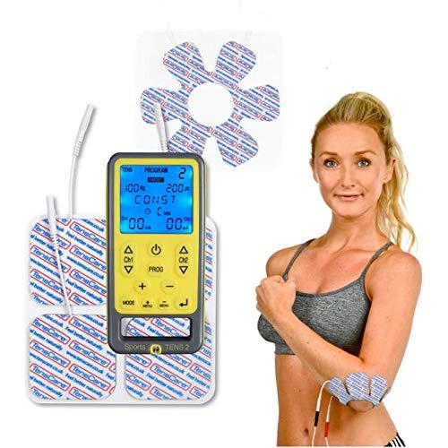 TensCare Sports TENS+ Electrodo de articulación. Dispositivo de electroestimulación con Masaje, TENS, EMS y programas manuales. Para alivio del dolor, tonificación y relajación muscular.