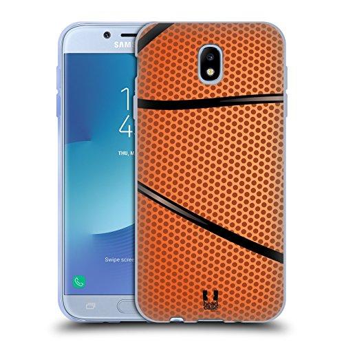 Head Case Designs Baloncesto Colección de Bolas Carcasa de Gel de Silicona Compatible con Samsung Galaxy J7 2017 / Pro