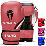 Boxing Gloves for Training, Muay Thai, Sparring, Kickboxing, Fighting, Focus Pads, Punch Bag Mitts, Martial Arts, Workout Gloves, | 6oz, 8oz, 10oz, 12oz, 14oz, 16oz | Men & Women (Pink, 10oz)
