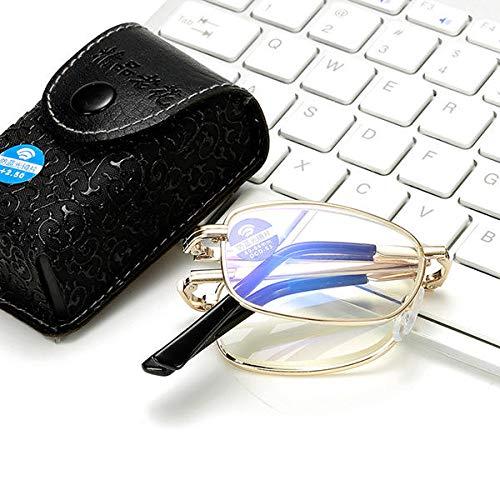 KCASA - Gafas de lectura plegables con bloqueo de luz azul antifatiga