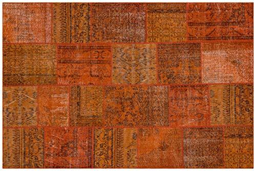 Tapis en laine fait main en patchwork turc Crème 5556 Taille 200 x 300 cm