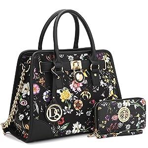 Fashion Shopping DASEIN Women Handbags Top Handle Satchel Purse Shoulder Bag Briefcase Hobo Bag Set 2pcs