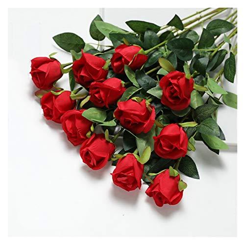 AO HAI 10 Flores de Rosas Artificiales Flores Artificiales Flores de Flores para la decoración para la Mesa de la Fiesta de la Fiesta del hogar Regalos del día de Las Madres