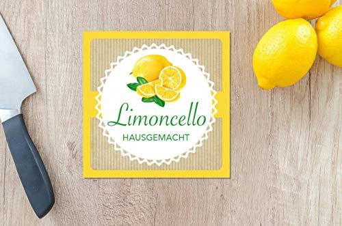 12x Aufkleber Limoncello - Etiketten Sticker selbstgemacht hausgemacht Küche Likörflaschen