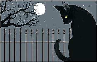 """Jellybean Harvest Moon Cat Indoor/Outdoor Machine Washable 20"""" x 30"""" Accent Rug"""