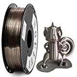 Noulei Filamento de para impresión 3d 1.75mm Silk PLA, Shiny Printing Filament 500g 1 Spool (Rose Gold)