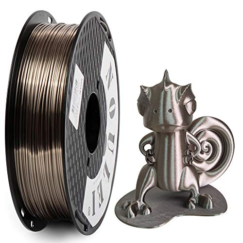 Noulei Shiny PLA Filament 1.75mm Silk Rose Gold, 3d Drucker printer Filament PLA 500g Spool