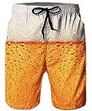 ALISISTER Herren Badehose Sommer Badeshorts 3D Druck Schnell Trocknend Hawaii Surf Schwimmhose Sporthose -
