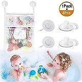 Aufbewahrung Badspielzeug mit 4 Stück Saugnapf Badewannen Aufbewahrung Heqishun Spielzeugnetz