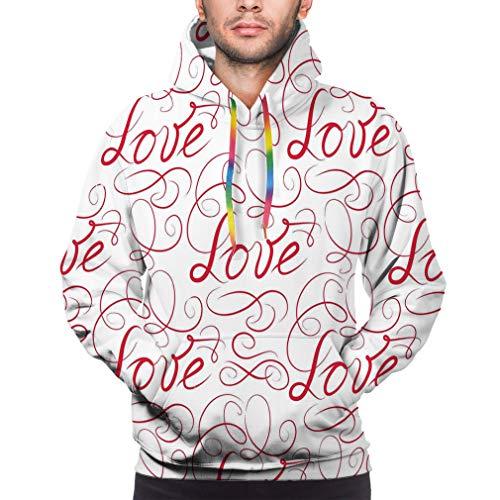 Mens Unisex 3D Printed Hoodies Hooded Sweatshirts Graphic Pocket Pullover Love d