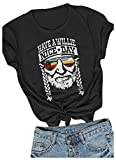 Women I Willie Love The USA & Have A Willie Nice Day Short Sleeve T-Shirts Tops (Black, XX-Large)