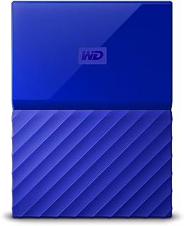 Wd 西部数据 My Passport 2.5英寸 移动硬盘 1TB 蓝色 WDBYNN0010BBL 配有密码保护功能和自动备份软件