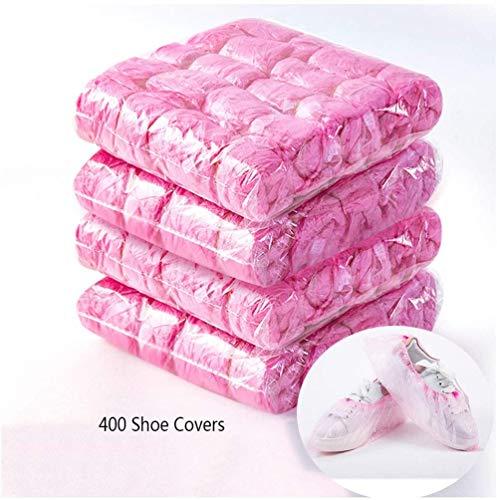 Automatische Home PE wegwerp overschoenen, sterke vloer tapijt beschermers Bescherm uw vloeren Dekens en schoenen overschoenen, roze, 400 stuks
